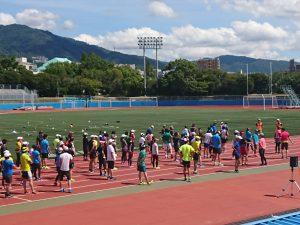 神戸マラソンの事前イベントに集まったのは約150名のランナーの皆様です。